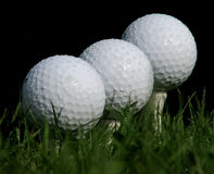 Balls on the tee Stock Photos