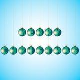 Balls with text merry Christmas Stock Photos