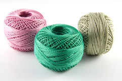 Balls of thread Stock Images