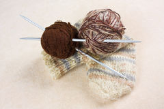 Balls with thread for knitting Royalty Free Stock Photos