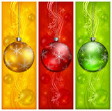 Balls on three color background Royalty Free Stock Photo