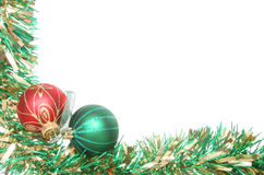 Balls and tinsel Royalty Free Stock Images