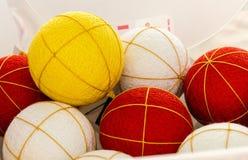 Balls to become temari soon Stock Photo