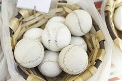 Balls to play in a pediment. Detail of an accessory for sports, animal skin ball, sport Royalty Free Stock Photography