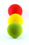 Balls in a Traffic Light Arrangement Stock Photos