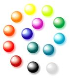 Balls on a white background. Set of color bright balls on a white background Royalty Free Stock Images