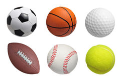 Balls on white Royalty Free Stock Image