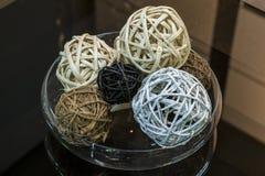Balls wicker rattan Stock Images