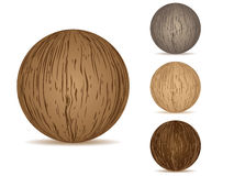 Balls wooden texture Stock Images