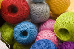 Balls of colorful cotton thread or yarn stock photography