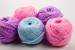 Balls of wool Royalty Free Stock Photos