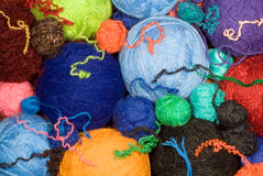 Balls of wool Stock Photos
