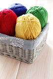 Balls of wool Stock Image