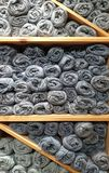 Balls of wool stock images