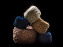 Balls of wool pyramid. Many balls of wool are made up of a pyramid Royalty Free Stock Images