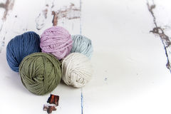 Balls of Wool Royalty Free Stock Photos
