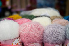Balls of wool. Yarn many colors Stock Photography