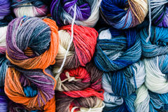 Balls of wool. Yarn many colors Stock Photos