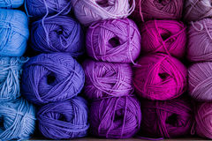 Balls of wool. Yarn many colors Stock Images