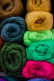 Balls of wool, yarn. In market Royalty Free Stock Photography