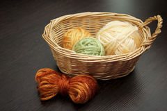 The balls of woolen threads. Stock Photography