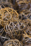 Balls of woven wood Stock Photography