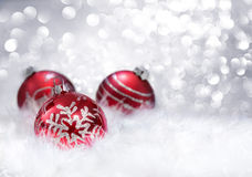 Balls xmas decoration Stock Photo