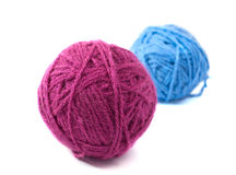 Balls of yarn. On white background Stock Photography