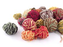 Balls of yarn. Some balls of yarn Royalty Free Stock Images
