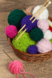 Balls of yarn Stock Images