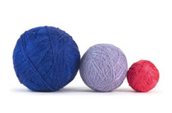 Balls of yarn isolated on white Royalty Free Stock Photography