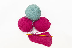 Balls of yarn for knitting Royalty Free Stock Photography