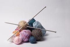 Balls of yarn for knitting stock photo