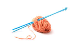 Balls of a yarn knitting spokes Stock Photography