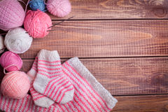 Balls of yarn for knitting Stock Image