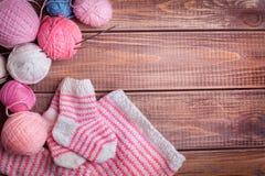 Balls of yarn for knitting Stock Image