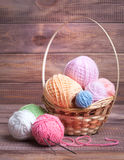 Balls of yarn for knitting Stock Photo
