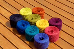 10 balls of yarn Royalty Free Stock Images