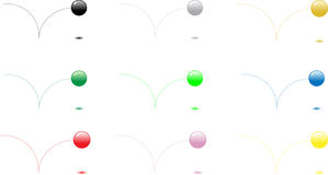 balls1 αναπήδηση απεικόνιση αποθεμάτων