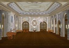 Ballsaal der Illustrations-3d Lizenzfreie Stockbilder