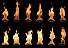 Ballsammlung des wirklichen Feuers lokalisiert Lizenzfreies Stockbild
