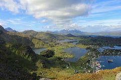 Ballstad, Lofoten, Noorwegen stock afbeelding
