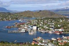 Ballstad Lofoten, Norge Royaltyfria Foton