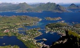 Ballstad, Lofoten, Noruega fotografia de stock royalty free