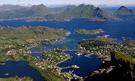 Ballstad, Lofoten, Norvège photographie stock libre de droits