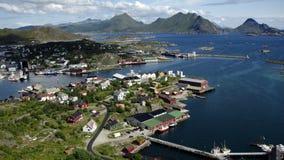 Ballstad, Lofoten, Norvège Images libres de droits