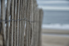 Ballston Beach Fence Royalty Free Stock Images
