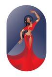 Bally dancingowy wschodni piękno royalty ilustracja
