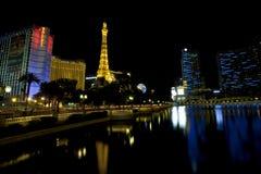 Bally, París, planeta Hollywood y casinos cosmopolitas a lo largo de la tira de Las Vegas Imagen de archivo