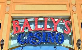 Bally`s Casino Sign Royalty Free Stock Image